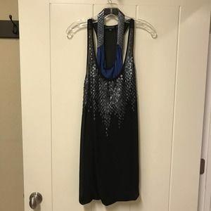 Barbara Bui Metallic Snake Mini Dress Black 38 6